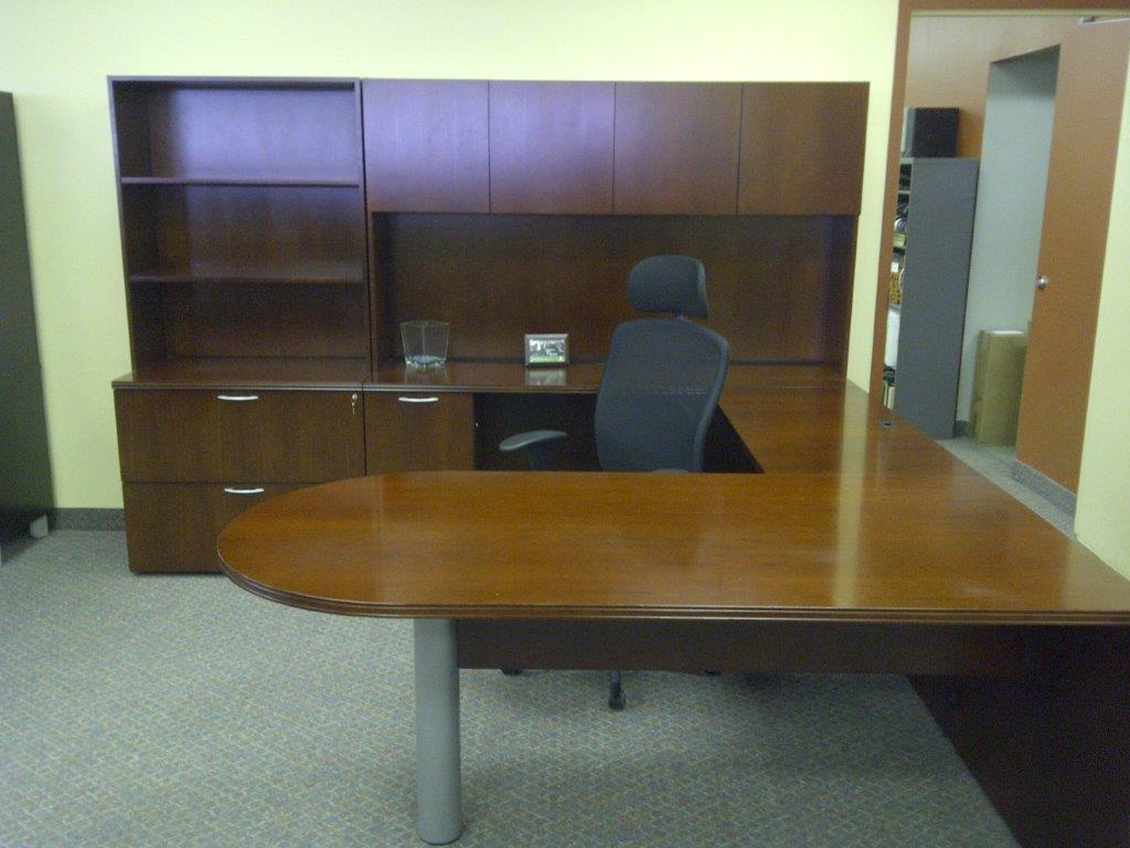 A real wood veneer used suite at a fraction of the cost of new.