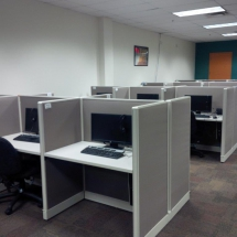 A call center application of 140 plus stations.Designed, supplied, refurbished and installed. On time, on budget.
